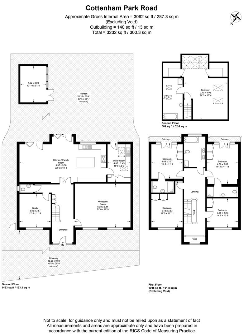 Floorplan for Cottenham Park Road, London